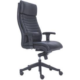 Drehstuhl Leder+AL für 24 Stunden-Nutzung