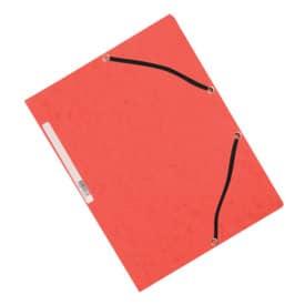 Mapa na spisy A4 Q-Connect karton, 3 klopy, s gumičkou, červená