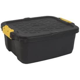 Víceúčelový box Strata HW444 s víkem, 24 l, černý