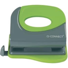 Děrovačka Q-Connect, průřeznost 20 listů, černá/zelená