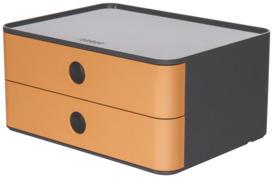 Schubladenbox 2 Laden grau/caramel-braun HAN 1120-83 Allison