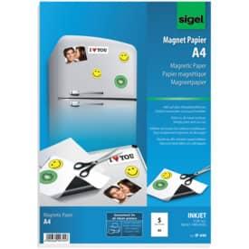 Magnetický papír InkJet SIGEL, formát A4, 5 listů