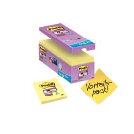 Bločky Post-it Super Sticky - 76 x 76 mm, žluté, 14+2 ks