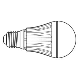 LED-Ersatzlampe Maul 10 Watt E27 Birnenform