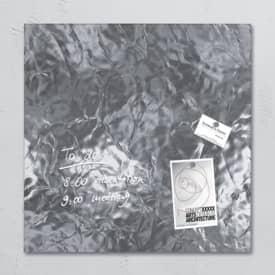 DELIST Skleněná tabule magnetická SIGEL artverum, 480 x 480 mm, design stříbro