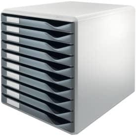 Schubladenbox 10 Laden du`grau LEITZ 5281-00-89