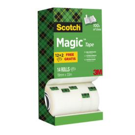 Klebeband Scotch Magic 810 19mm x 33m 10+ 4 Rollen