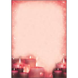 Weihn.Design Papier 100BL RedCandlelight SIGEL DP138 A4 90g