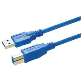 Anschlusskabel Media Range USB 3.0 A/B 1,8m blau