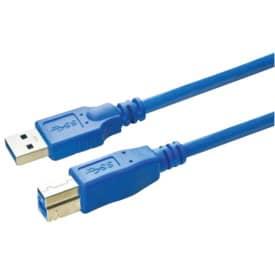 Anschlusskabel Media Range USB 3.0 A/B 3m blau