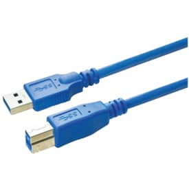 Anschlusskabel Media Range USB 3.0 A/B 5m blau