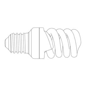 Energiesparlampe Maul 12 Watt glasklar
