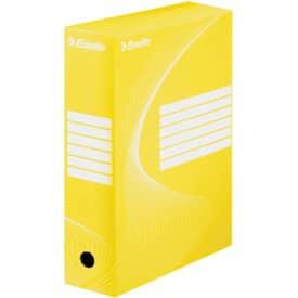 Archivační box 35x25x10 cm, žlutý