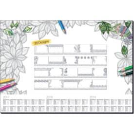 Schreibunterlage Sigel Adult Coloring weiß