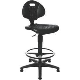 Drehstuhl + Fußring schwarz TOPSTAR 72220PU0T TEC20 bis 84cm