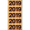 Jahresschild Bene für Ordner 2019 orange