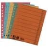 Rozlišovací listy A4 Q-Connect 100 ks, barevný mix