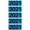 Jahresschild Bene für Ordner 2021 blau