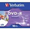 DVD+R Verbatim bedruckbar 4,7GB 120min Jewelcase