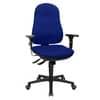POUZE DO VYPRODÁNÍ Židle kancelářská Support SY, otočná, bez područek, plastová křížová noha, modrá