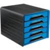 Schubladenbox 7-111 schwarz/blau CEP 1071110351 5 Laden