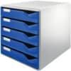Schubladenbox 5 Laden blau LEITZ 5280-00-35