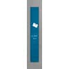 Skleněná tabule magnetická SIGEL artverum®, 120 x 780 mm, barva petrol. modrá
