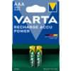 Akku-Batterie Varta AAA vorgeladen / 2 Stück