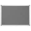Filcová nástěnka Q-Connect - 120 x 90 cm, hliníkový rám, šedá