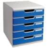 Schubladenbox 5 Laden l.gr/bl EXACOMPTA 301003D System 2