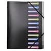 Třídicí kniha Exacompta - A4, 12 přihrádek, černá