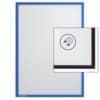 Magnetická kapsa na prospekty A4, FRANKEN, modrá, 1 ks