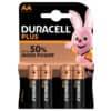 Batterie Duracell AA MN1500 LR6 Mignon 4 Stück