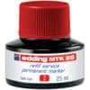 Inkoust MTK 25 pro permanentní popisovače edding, 25 ml, červený
