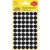 Etikety kulaté, ø 12 mm, 270 ks, černé