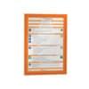 (2 × + 1 ZDARMA) Samolepící informační rámeček Durable DURAFRAME™ A4, oranžov