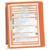 Nástěnný držák Vario Wall 5, vč. 5 tabulek, oranžový