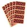 Jahresschild Bene für Ordner 2020 rot