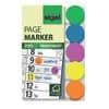 Záložky fóliové v 5 barvách (zelená, modrá, fialová, žlutá, oranžová) - kolečka.  Rozměry 50 x 15 mm. 200 lístků.