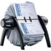 Vizitkář rotační  Durable VISIFIX na 400 vizitek, šedo-černý