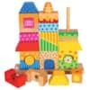 Geschicklichkeitsspiel Steckhaus 84151 Holz 26tlg