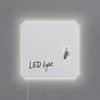 Magnettafel Glas LED super-weiß SIGEL GL401 480x480x15mm