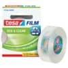 Páska kancelářská tesafilm® Eco&Clear, 19 mm x 33 m, tranparentní