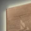 Magnettafel Glas LED Natural-Wood SIGEL GL408 910x460x15mm