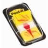 """(2 × + 1 ZDARMA) Záložky samolepicí Post-it®, fóliové, žluté """"ruka s perem"""", 50 ks"""