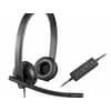 Logitech USB HEADSET H570E  Übertragung: Kabel/