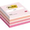 (3 × + sportovní láhev se silikonem ZDARMA) Kostka Post-it® samol., aquarelle růžová, 76 x 76 mm, 450 l.