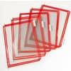 Průhledné kapsy TARIFOLD, 10 ks, červené