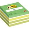 (3 × + sportovní láhev se silikonem ZDARMA) Kostka Post-it® samol., aquarelle zelená, 76 x 76 mm, 450 l.