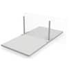 Tischteiler Basismodul Orgadesk 105x60cm mit 2 Standfüßen